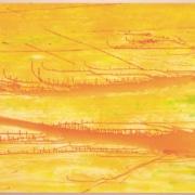 Christine Streuli, «Cairo International Airport», 2003, Acryl auf Baumwolle, 140 x 180 cm