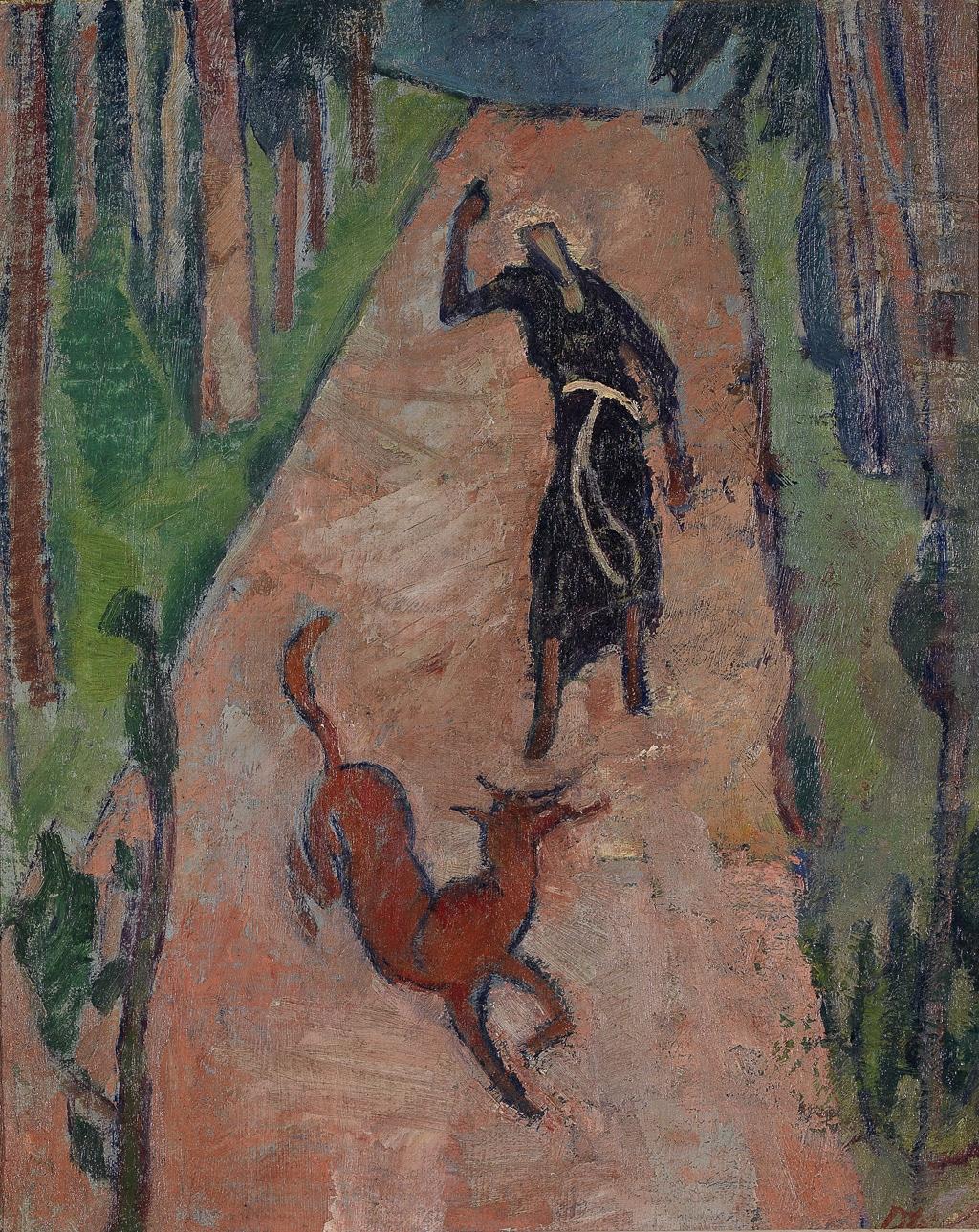 Heinrich-Danioth_Franziskus-und-der-Fuchs-1916