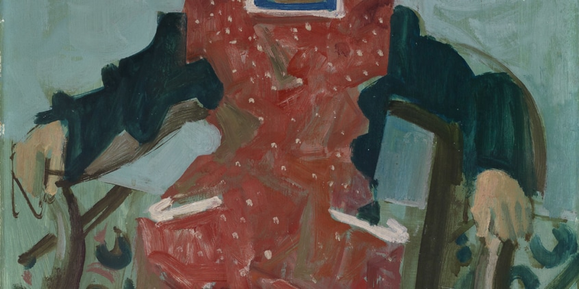 H. Danioth, «Margritli», 1948, Öl auf Hartfaserplatte, 65 x 53 cm, Dätwyler Stiftung