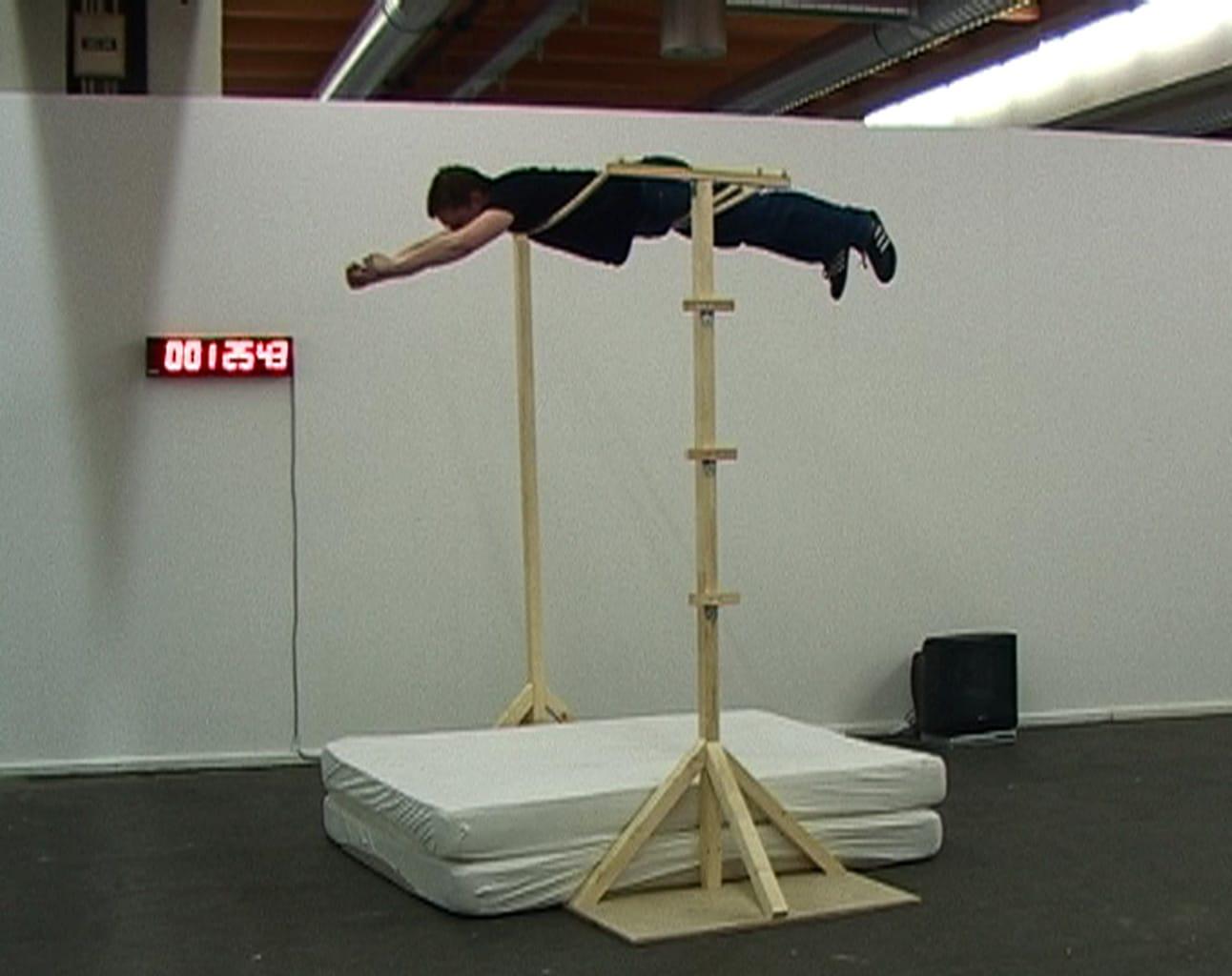 Yanick Fournier während seiner «Superman»-Performance